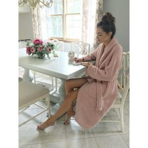 Barefoot Dreams CozyChic 509 Robe 3 Pink Pockets